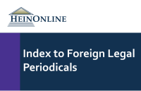 Index to Foreign Legal Periodicals
